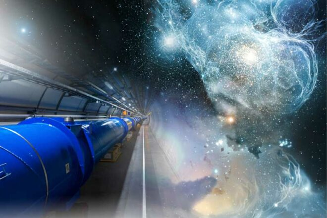 A pipe tunnel merged with the galaxy