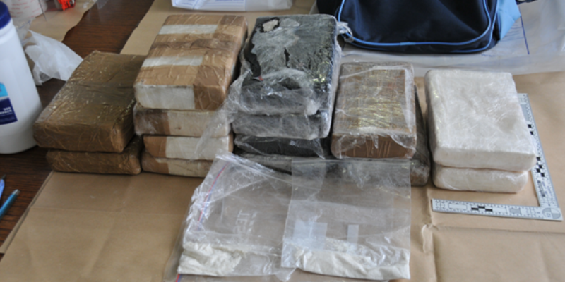 Illegal drugs that have been seized