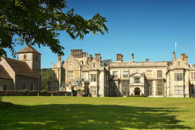 Wiston House in the summer