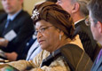 HE Ellen Johnson Sirleaf, President of the Republic of Liberia attending Wilton Park's meeting on Peace and security: implementing UN Security Council Resolution 1325.