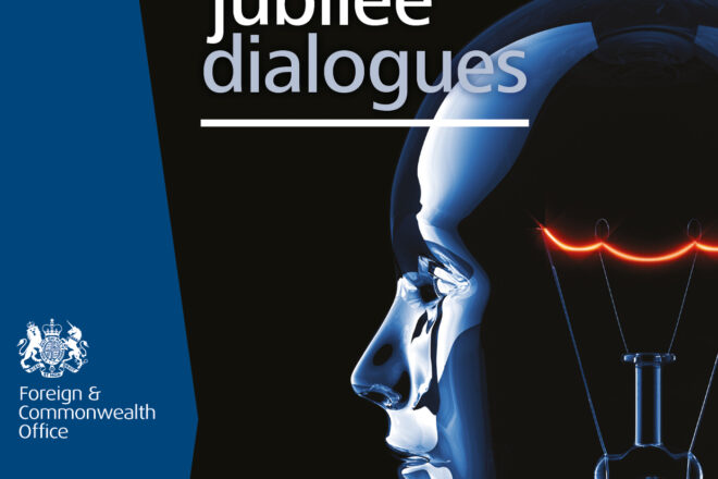 Jubilee Dialogue logo of a lightbulb with human features