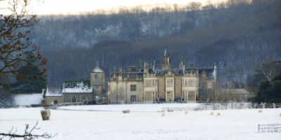 Wiston House in the snow