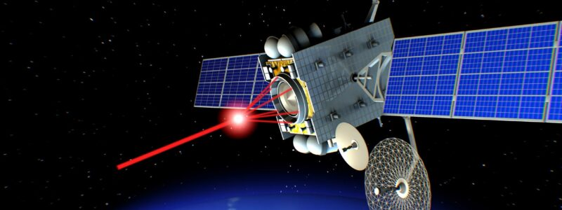 An artist's impression of a satellite in space