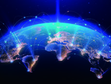 Earth from space with technology networks