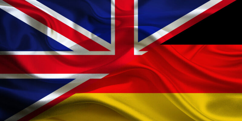 Flag of Germany and the Union Jack