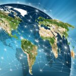 World with digital network