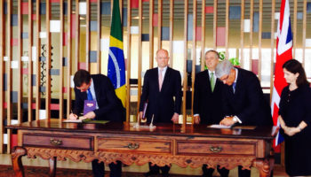 William Hague oversees signing of partnership agreement with Brazil