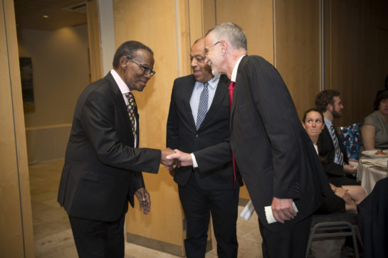 Prince Mangosuthu  Buthelezi MP, President, Inkatha Freedom Party (IFP), Cape Town; Rt Hon Lord Paul Boateng PC DL, Member,  House of Lords, London and Sir Richard Feachem KBE, FREng, DSc(Med), Director, The Global Health Group, University of California, San Francisco