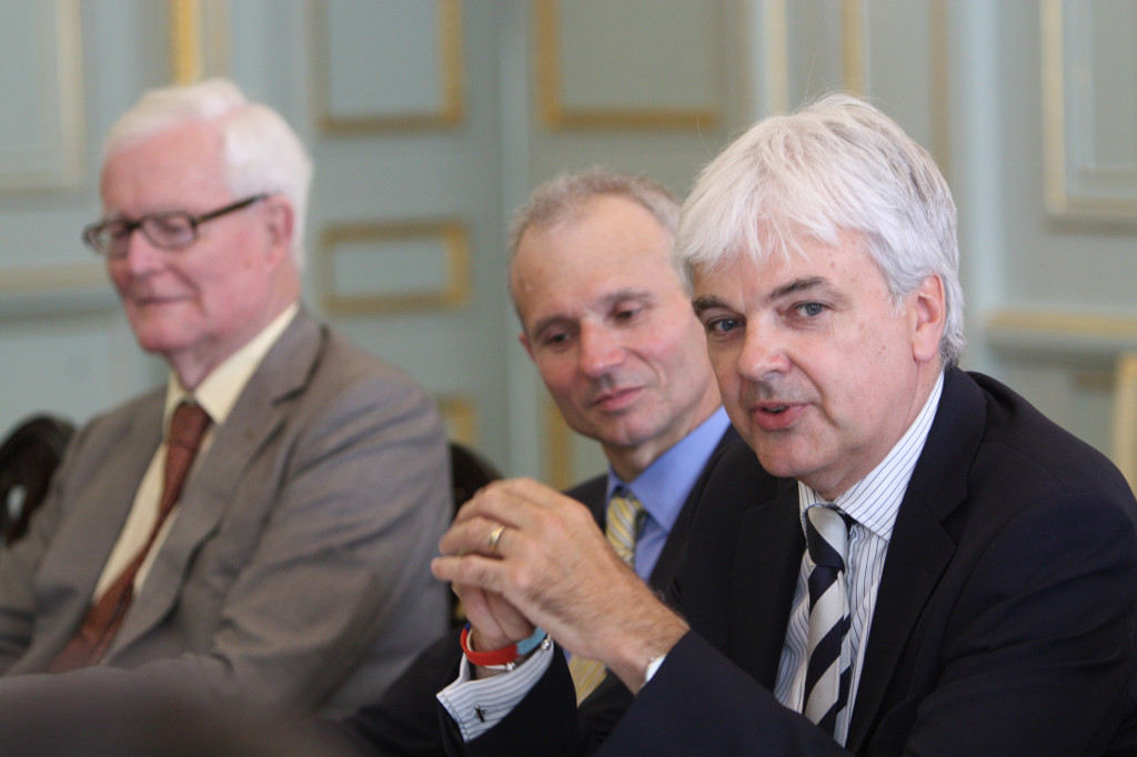 Lord Hurd, David Lidington and Richard Burge at the Jubilee Dialogue