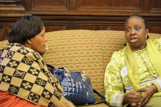 Catherine Mabobori, Senior Adviser to First Vice-President of Burundi in charge of Press and Communication, Ministry for National Solidarity, Human Rights and Gender and Bineta Diop, founder and President, Femmes Africa Solidarité