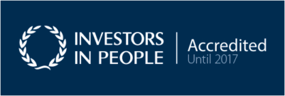 Investors in People (white on blue)