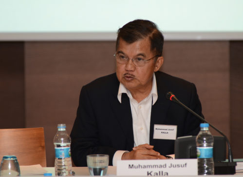 Muhammad Jusuf Kalla, Chairman, Indonesian Red Cross Society (PMI) speaking at the conference