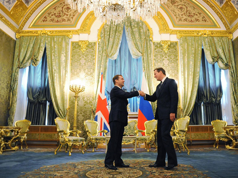 Cameron and Medvedev