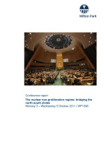 Nuclear non-proliferation: bridging the North-South divide [WP1098]