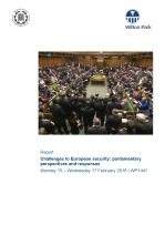 Challenges to European security: parliamentary perspectives and responses (WP1441)