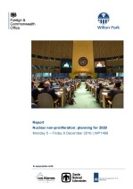 Nuclear non-proliferation: planning for 2020 (WP1498)