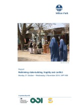 Rethinking statebuilding, fragility and conflict (WP1499)