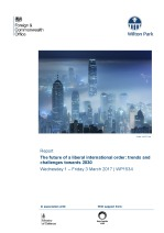 The future of a liberal international order: trends and challenges towards 2030 (WP1534)