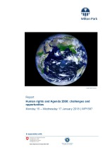 Human rights and agenda 2030: challenges and opportunities (WP1587)