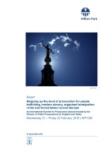 Stepping up the level of prosecution for people trafficking, modern slavery, organised immigration crime and forced labour across Europe (WP1590)