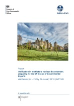 Verification in multilateral nuclear disarmament: preparing for the UN Group of Governmental Experts (WP1595)