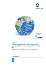 Revisiting independence, objectivity, and the critically reflective role of evaluation for the SDG era (WP1600)