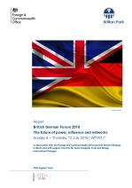British German Forum 2018: the future of power, influence and networks (WP1617)
