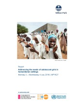 Addressing the needs of adolescent girls in humanitarian settings (WP1627)