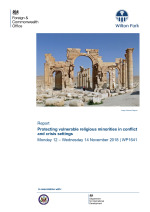Protecting vulnerable religious minorities in conflict and crisis settings (WP1641)