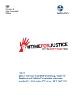 Sexual violence in conflict: delivering justice for survivors and holding perpetrators to account (WP1651)