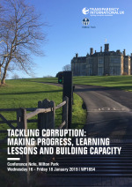 Tackling corruption: making progress, learning lessons and building capacity (WP1654)