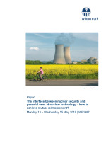 The interface between nuclear security and peaceful uses of nuclear technology – how to achieve mutual reinforcement? (WP1687)