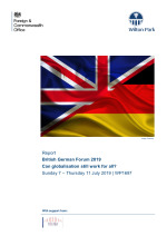 British German Forum 2019: can globalisation still work for all? (WP1697)