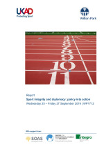 Sport integrity and diplomacy: policy into action (WP1712)