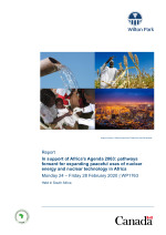 In support of Africa's Agenda 2063: pathways for expanding peaceful uses of nuclear energy and nuclear technology in Africa (WP1763)
