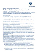 The future of aid series: towards global public investment? (WP1766)