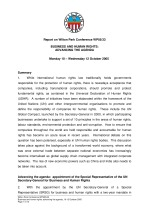 Business and human rights: advancing the agenda (WPS05/33)