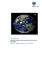 Chemical weapons disarmament and the future of the Organisation for the Prohibition of Chemical Weapons (OPCW) [WP1079]