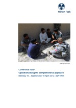 EU programmes and action in fragile and conflict states: next steps for the comprehensive approach (WP1318)