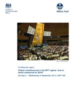 Global constituencies in the NPT regime: how to build consensus for 2015? [WP1188]