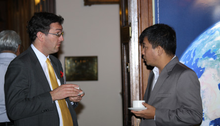 Benedict Rogers, East Asia Team Leader, Christian Solidarity Worldwide (left) and Dr Kyaw Yin Hlaing, Member, National Economic and Social Advisory Council