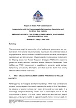Reducing poverty: the roles of parliaments, government and non-state actors [WP817]