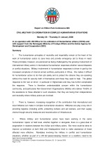 Civil-military coordination in complex humanitarian situations [WP895]